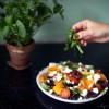 Sommersalat med tomater og stenfrugt