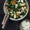 Opskrift: Grønkålsalat med bagte rodfrugter