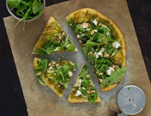 Opskrift: Pizza med squash og rucola | Frk. Kræsen