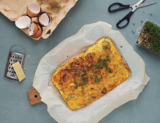 Opskrift: Frittata med bacon og æble | Frk. Kræsen