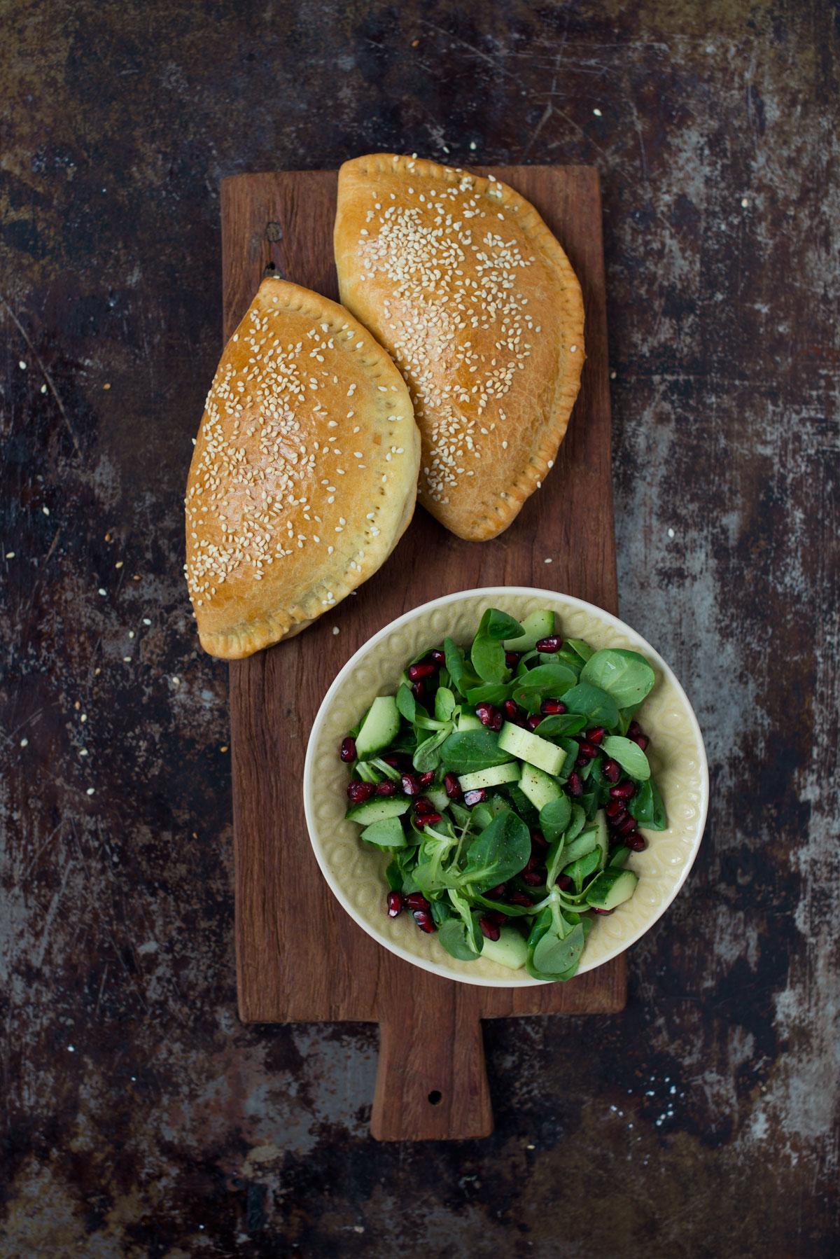 Opskrift vegetariske pirogger med portobellosvampe quinoa og oliven frk kr sen for Porte zen fiber