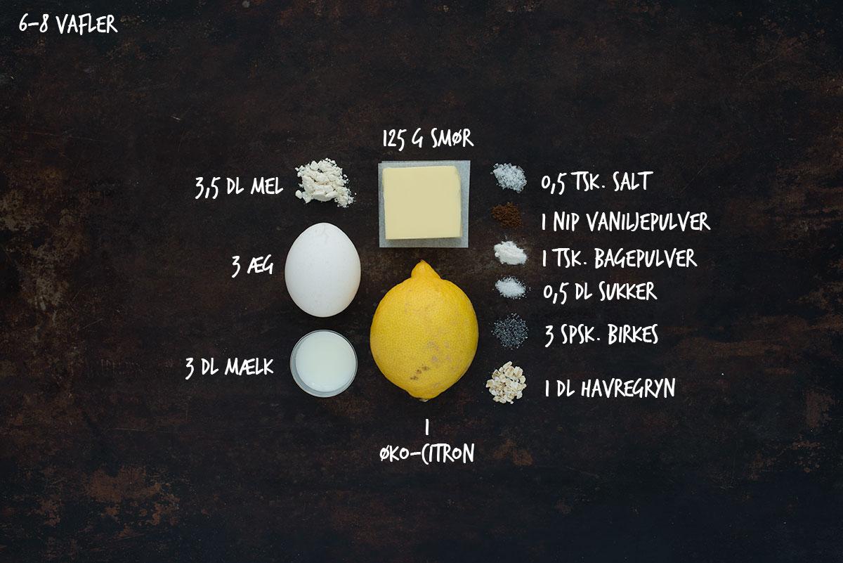 Opskrift: Vafler med birkes og citron | Frk. Kræsen