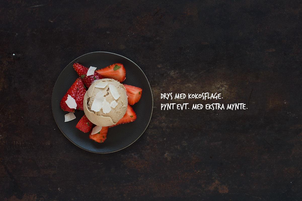 Opskrift: Dessert med hasselnøddeis | Frk. Kræsen
