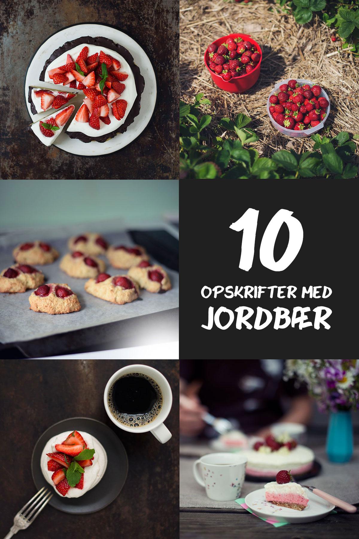 10 opskrifter med jordbær | Frk. Kræsen