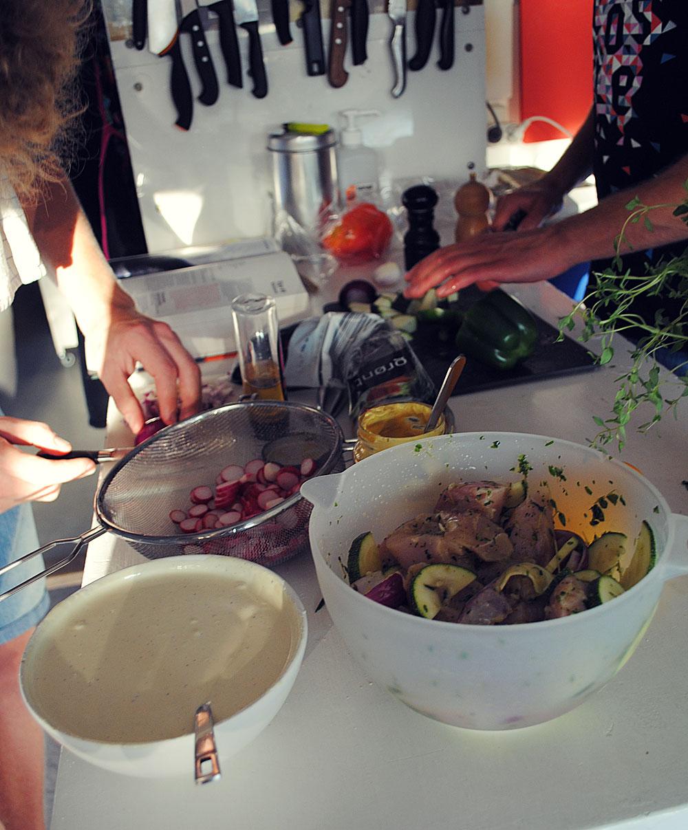 Opskrift: Grillspyd og kartoffelsalat | Frk. Kræsen