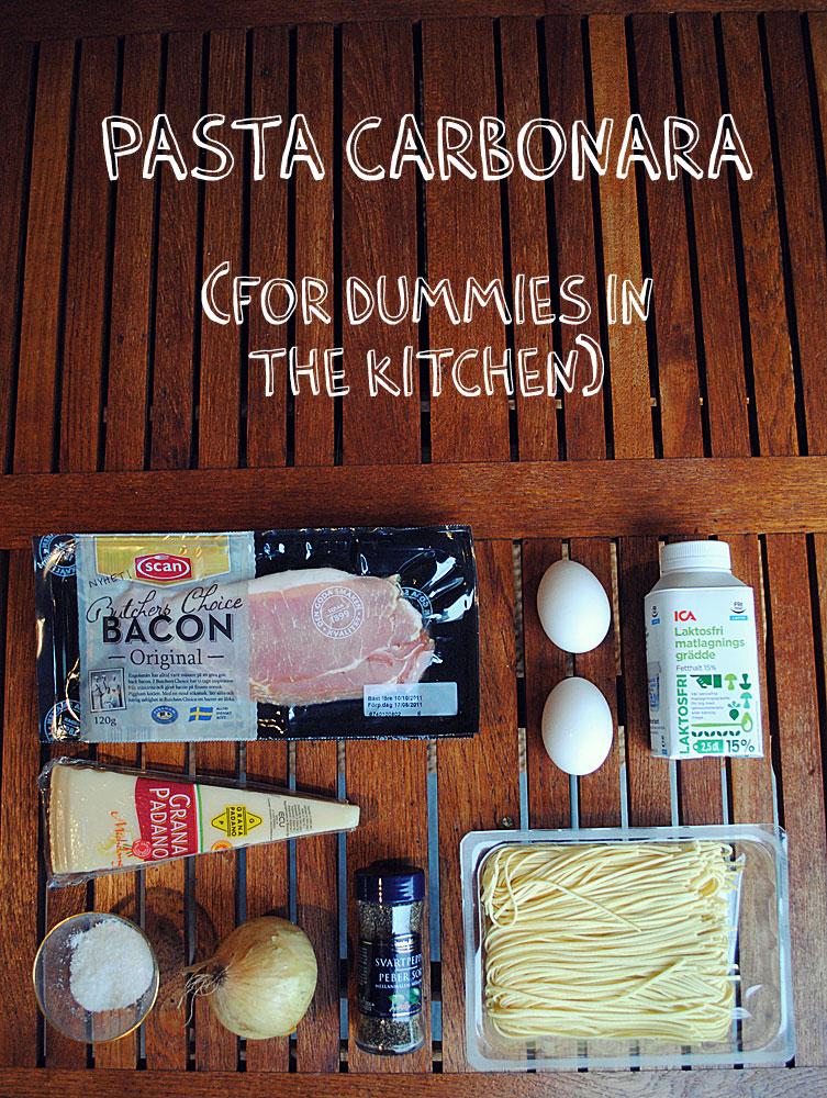 Opskrift: Pasta carbonara   Frk. Kræsen