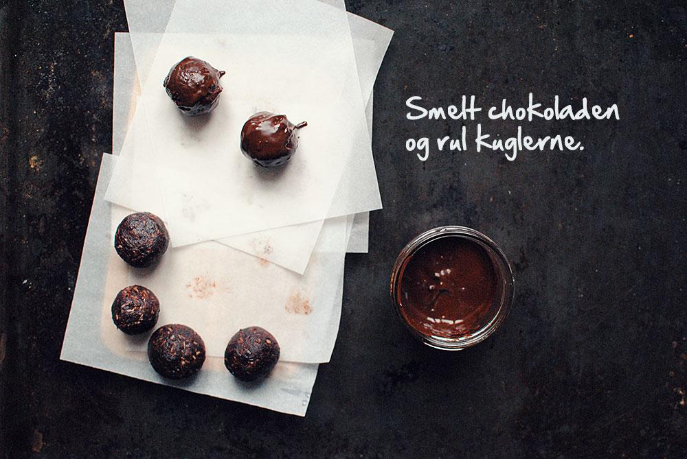 Opskrift: Dadelkugler med chokolade