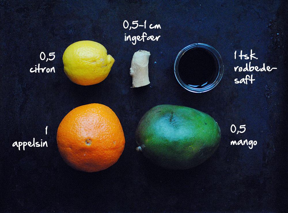 Opskrift: Juice med appelsin og rødbede | Frk. Kræsen