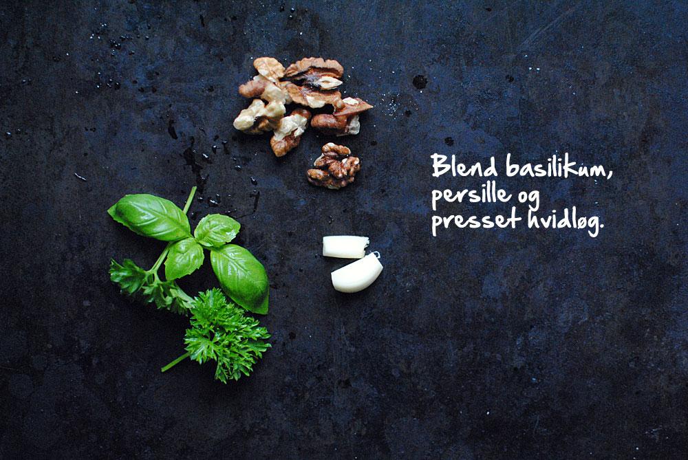 Opskrift: Pesto med basilikum, persille og valnødder