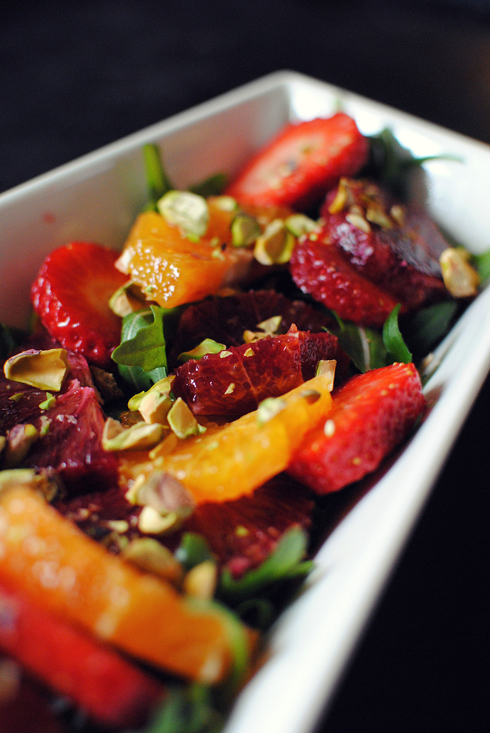 Opskrift: Salat med rucola, blodappelsin og pistagenødder | Frk. Kræsen