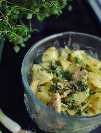 Opskrift: Kartoffelsalat med frisk timian | Frk. Kræsen