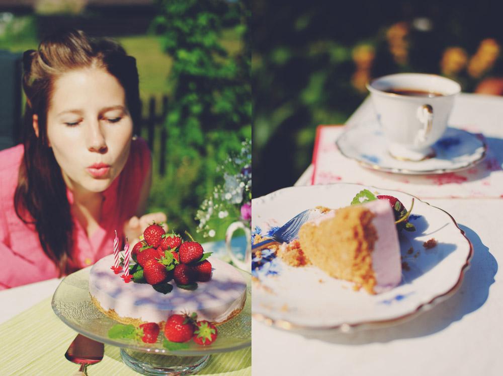Opskrift: Frozen cheesecake med ekstra jordbær | Frk. Kræsen