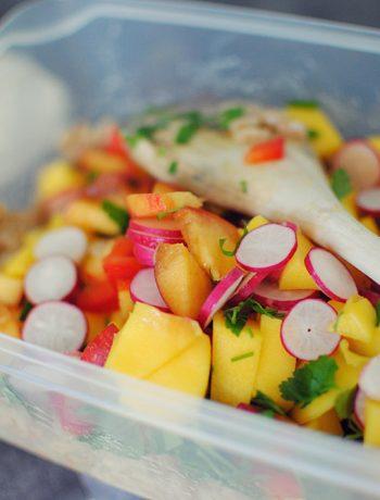 Opskrift: Salat med perlebyg og gule frugter | Frk. Kræsen