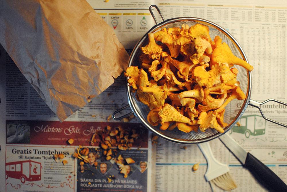 Opskrift: Tærte med kantareller og bacon | Frk. Kræsen
