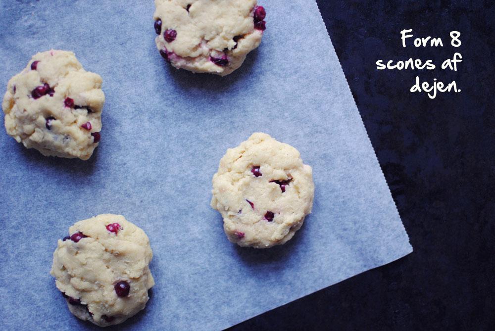 Opskrift: Scones med tyttebær | Frk. Kræsen