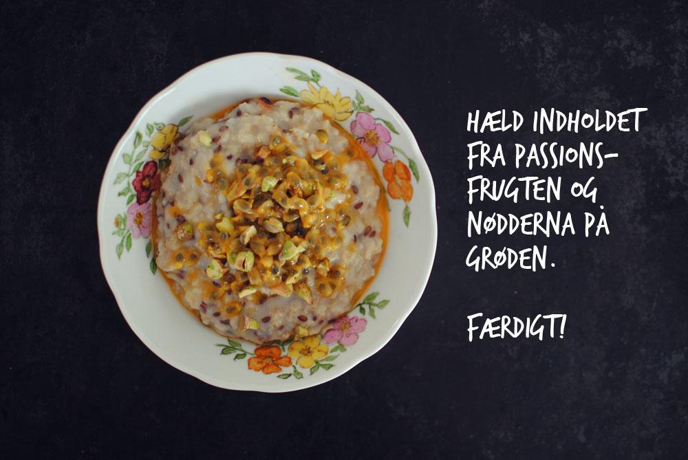 Opskrift: Grød med ingefær og passionsfrugt   Frk. Kræsen