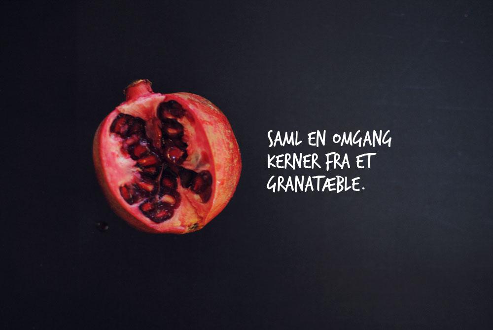 Opskrift: Pannacotta med safran, pistagenødder og granatæble | Frk. Kræsen