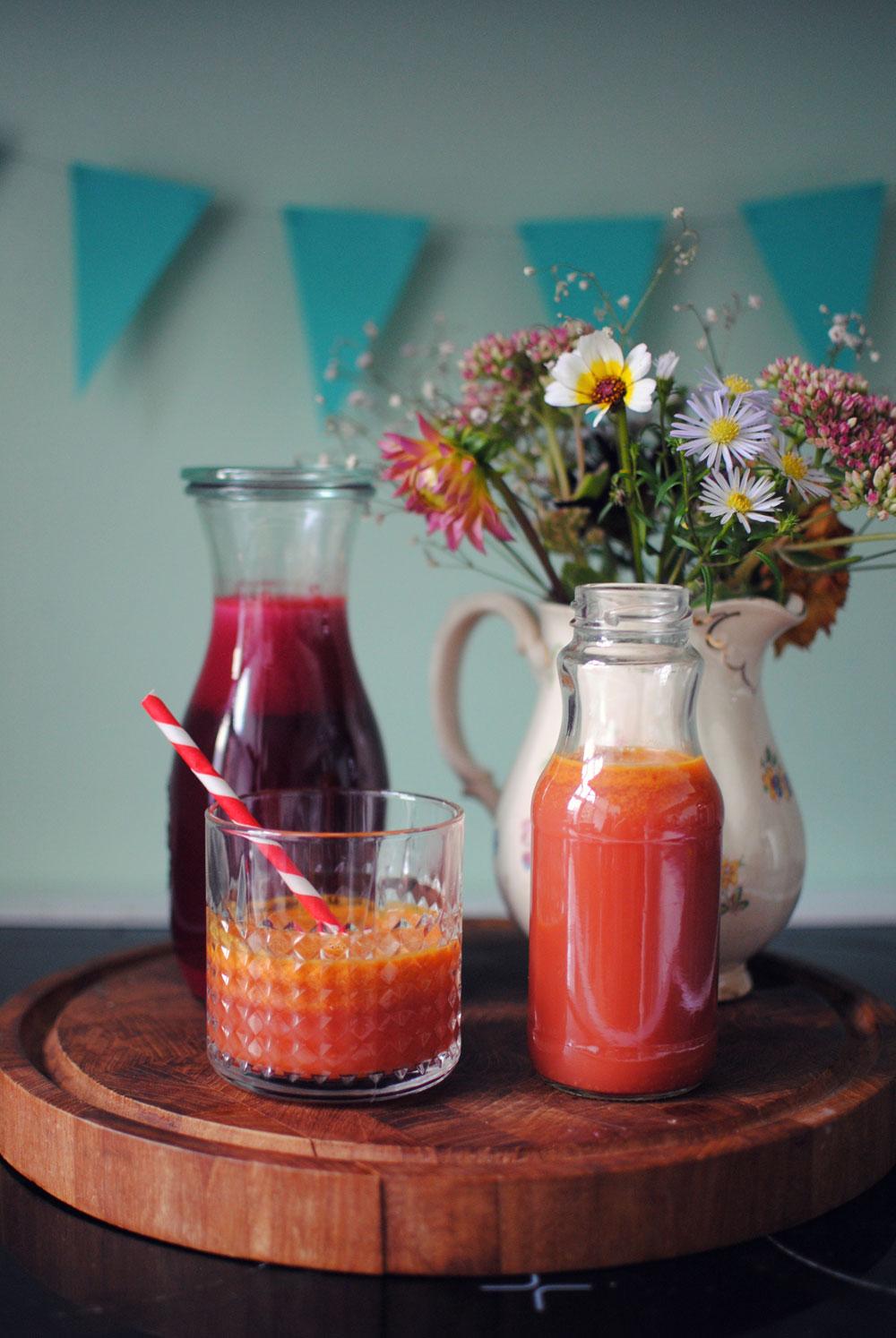 2 slags hjemmelavet juice   Frk. Kræsen