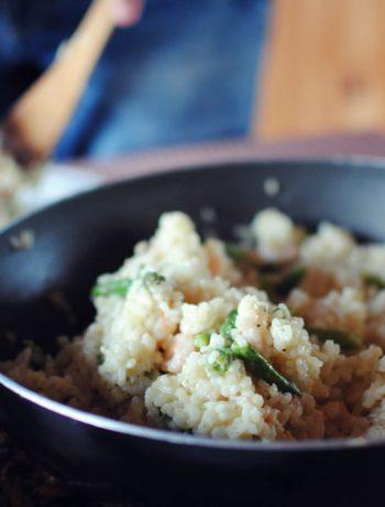 Opskrift: Risotto med rejer og asparges | Frk. Kræsen