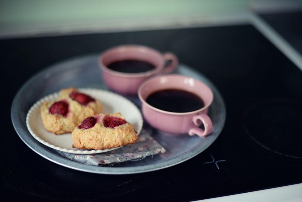 Opskrift: Jordbærscones | Frk. Kræsen