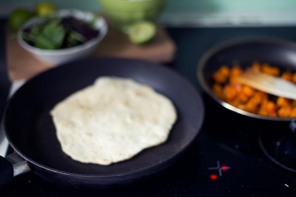 Opskrift: Græskarfyld i tortillabrød | Frk. Kræsen