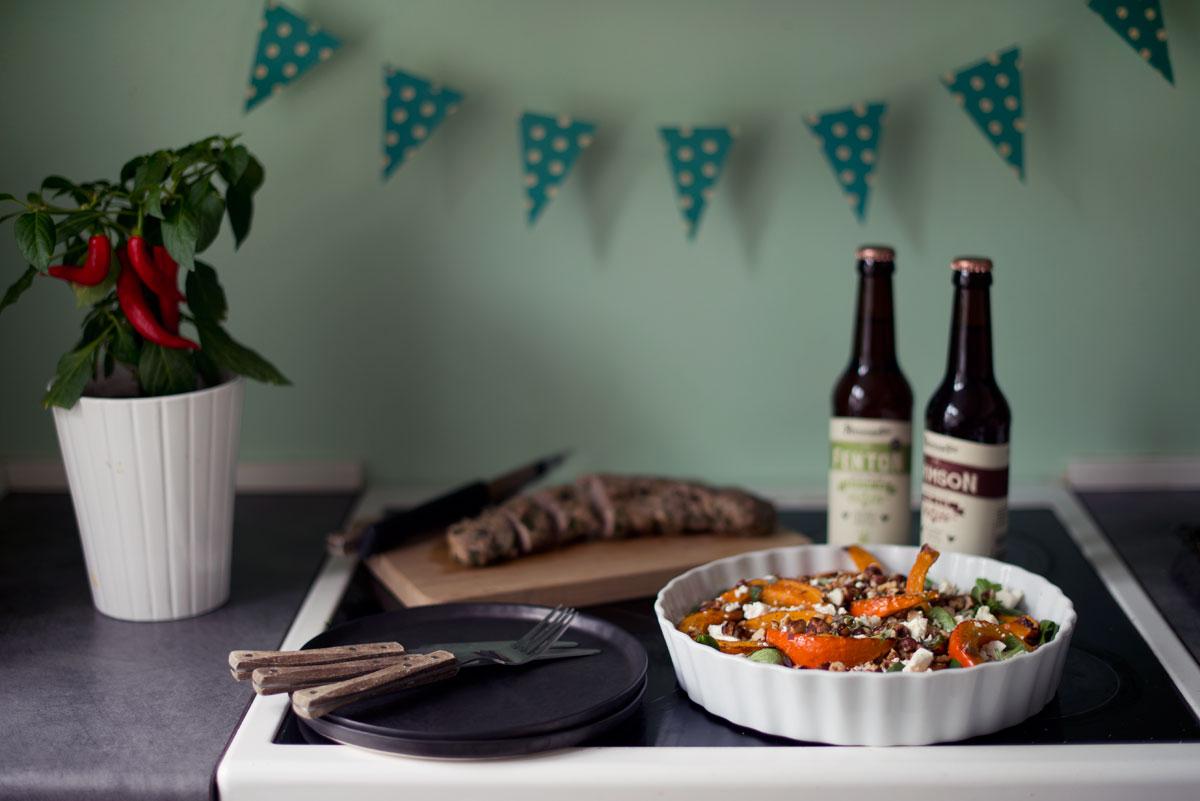 Opskrift: Salat med bagt græskar | Frk. Kræsen