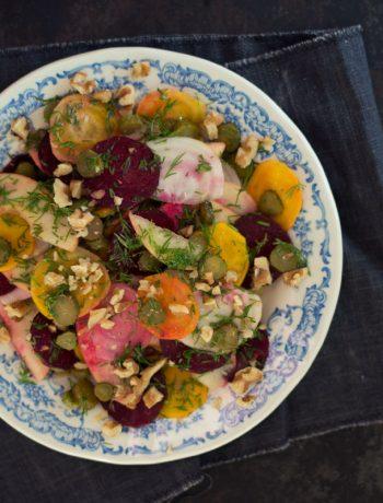 Opskrift: Salat med æble og rødbeder | Frk. Kræsen