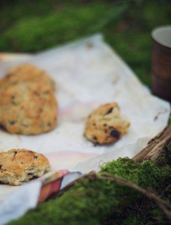 Scones med chokolade og banan | Frk. Kræsen