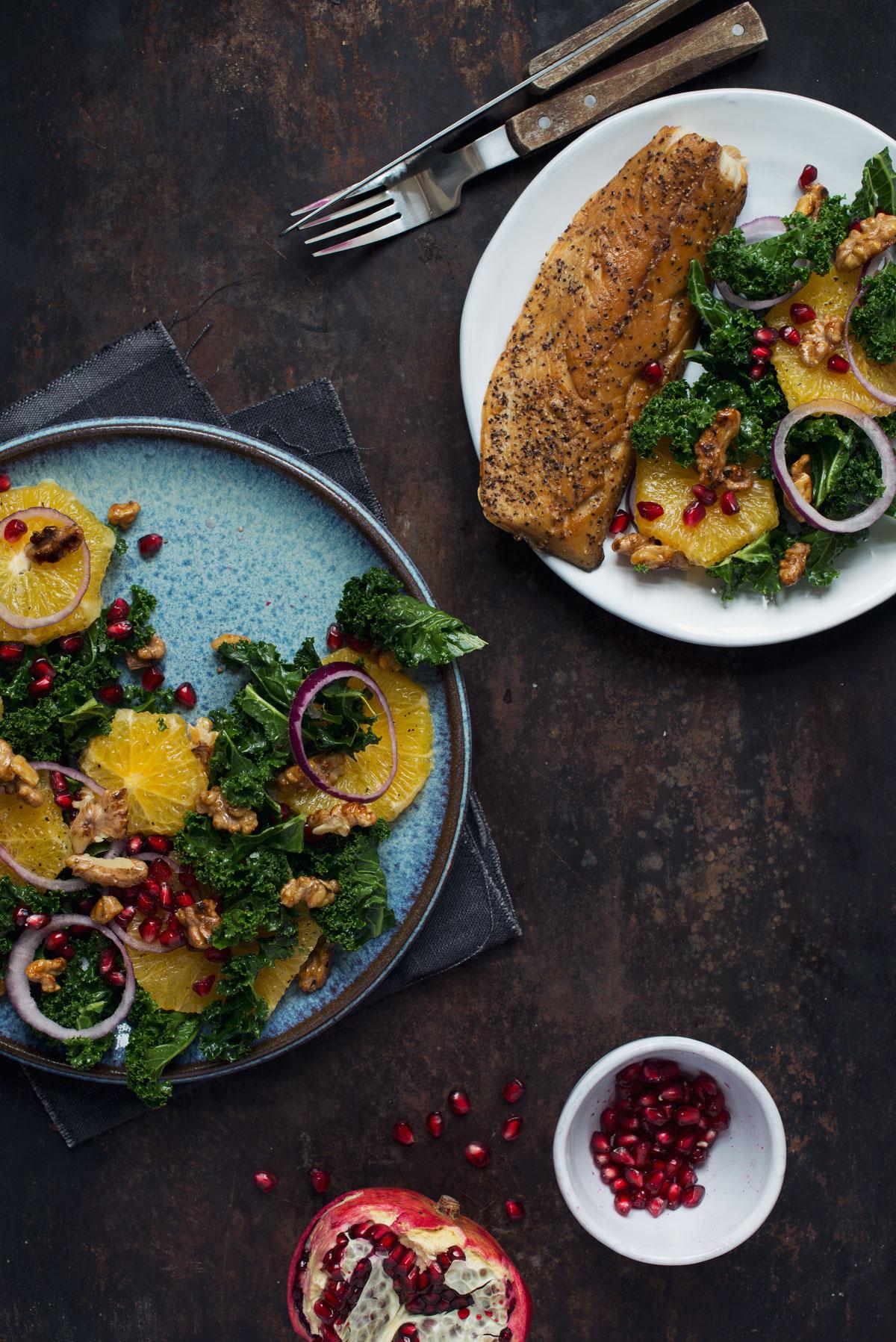 Opskrift: Salat med grønkål og appelsin