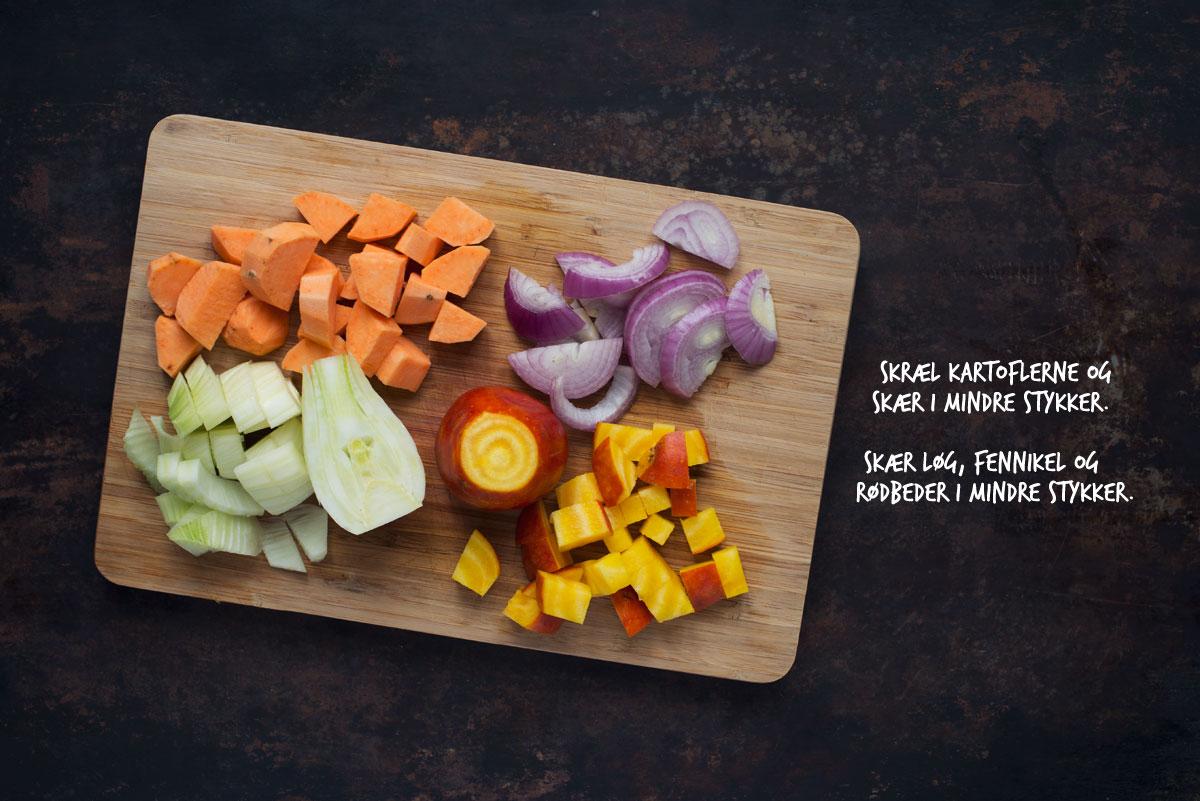 Opskrifter: Grønkålsalat med bagte rodfrugter | Frk. Kræsen