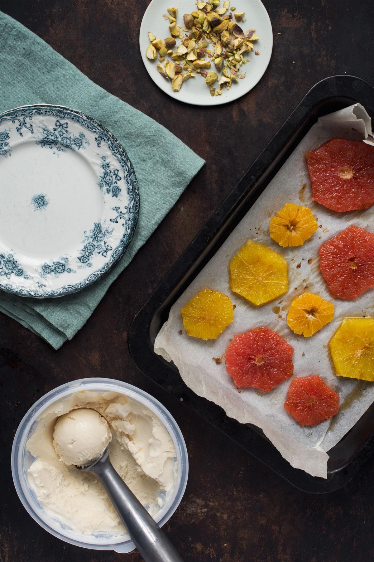 Opskrift: Dessert med bagte appelsiner