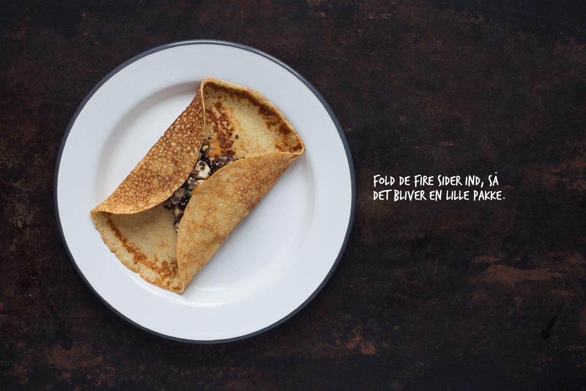 Opskrift: Pandekager med vegetarisk fyld