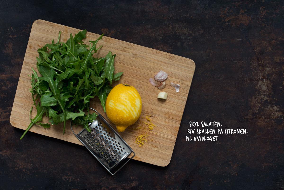 Opskrift: Pesto med rucola