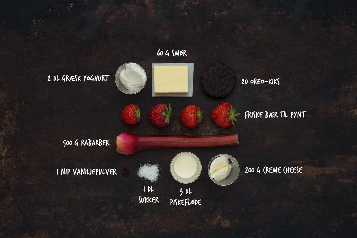 Opskrift: Frozen cheesecake med rabarber