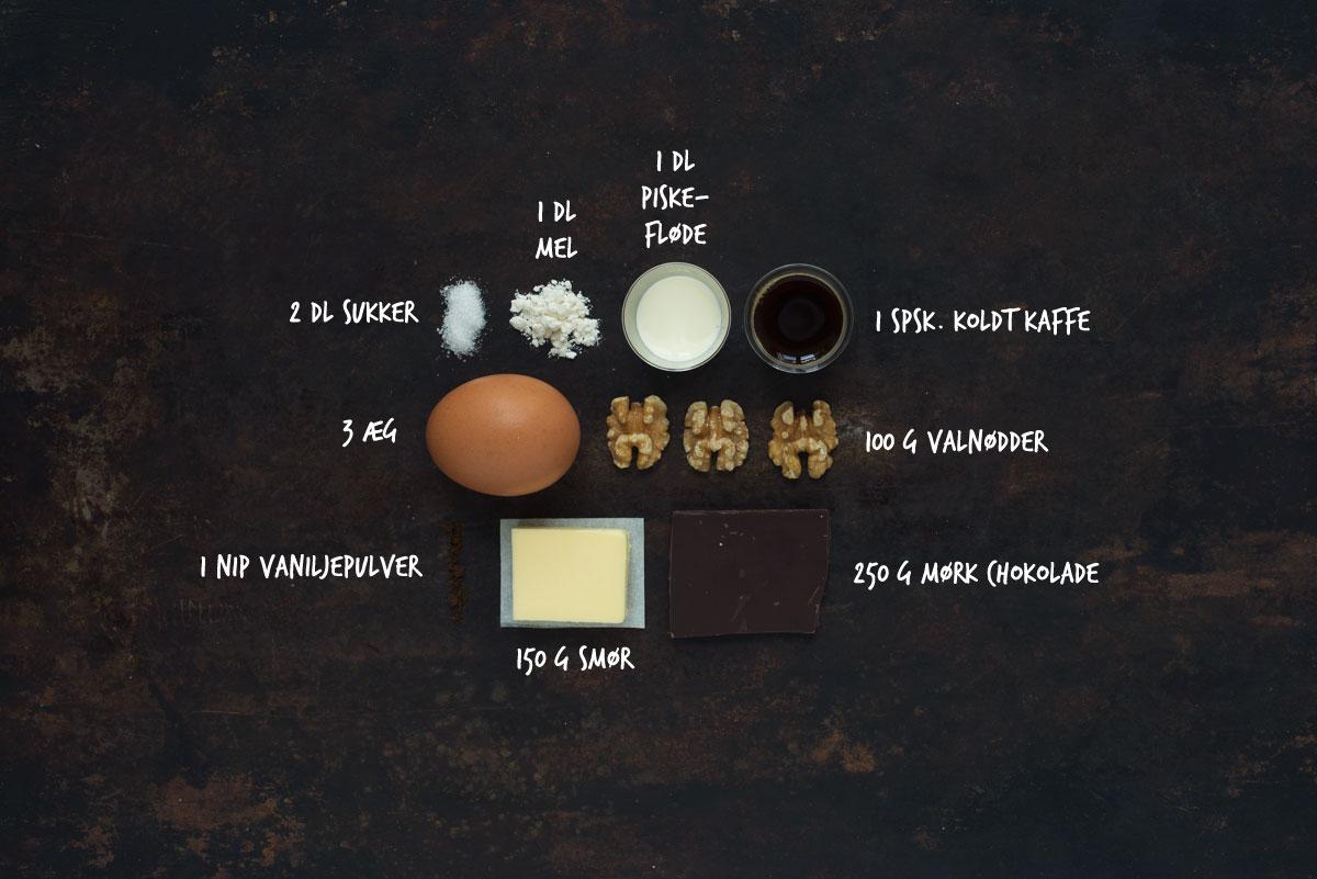 Opskrift: Chokoladekage med valnødder | Frk. Kræsen