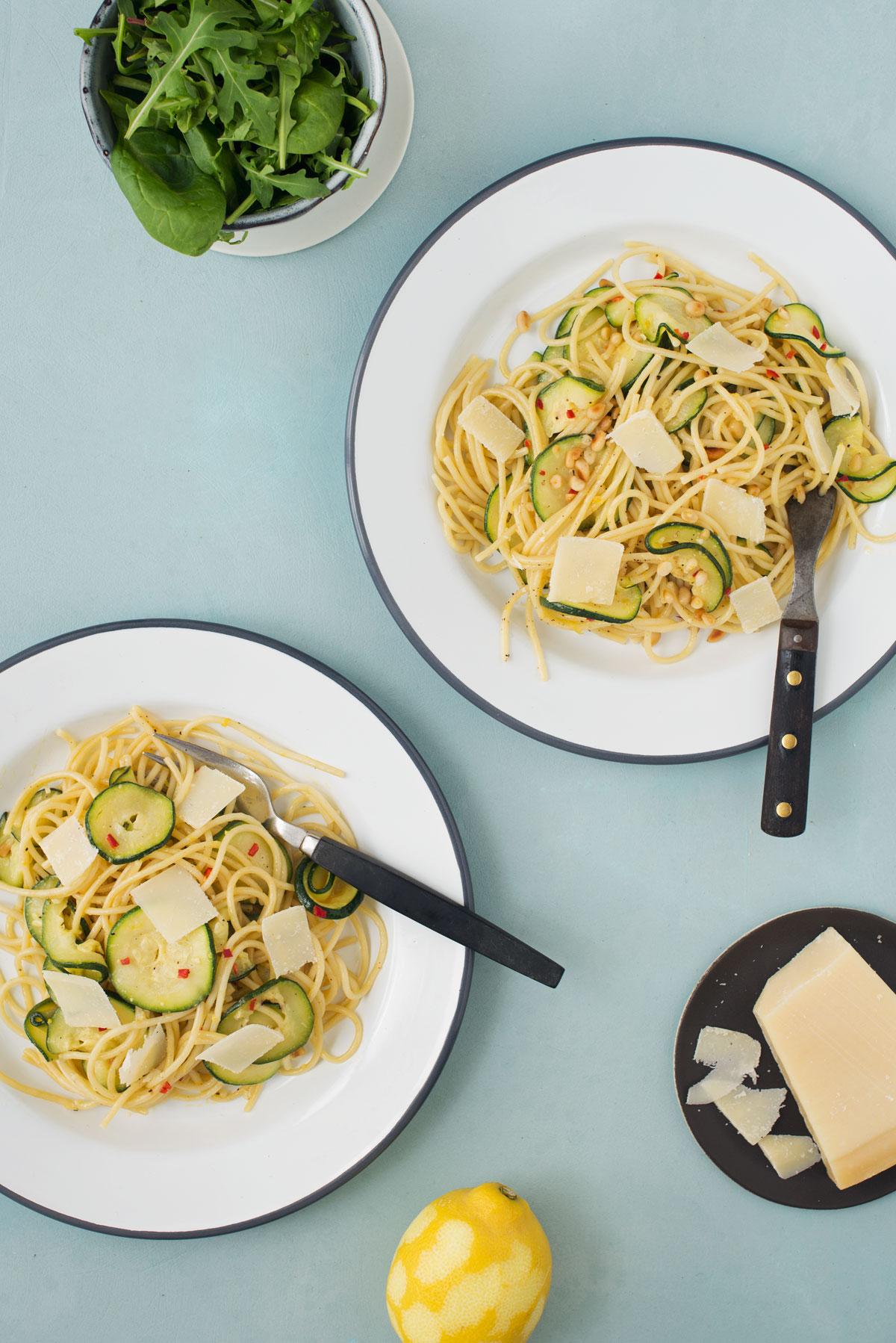 Opskrift: Vegetarisk pasta med squash og citron | Frk. Kræsen