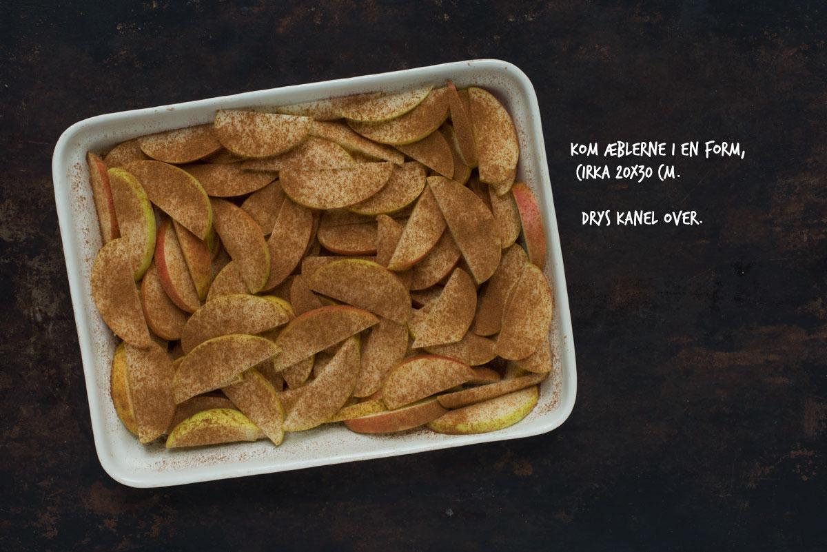 Opskrift: Æble-crumble med rugbrød | Frk. Kræsen