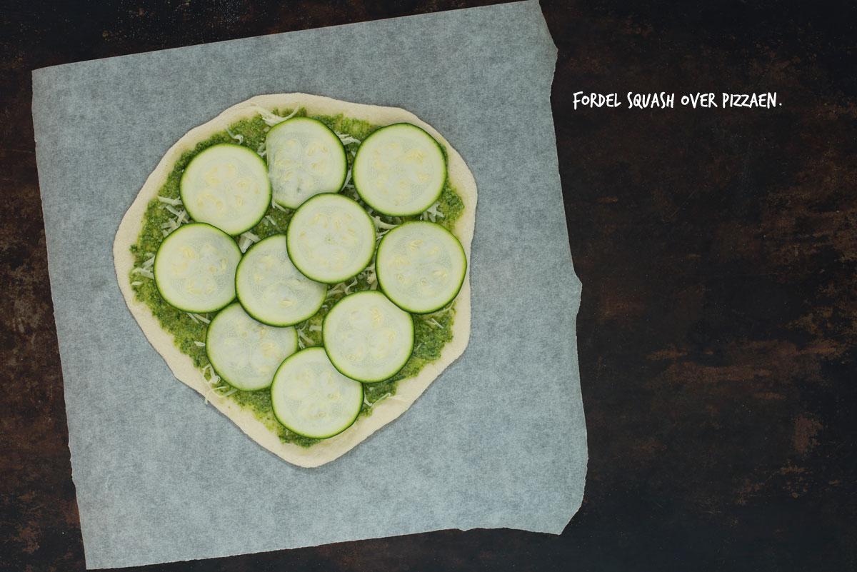 Opskrift: Vegetarisk pizza med squash og rucola | Frk. Kræsen