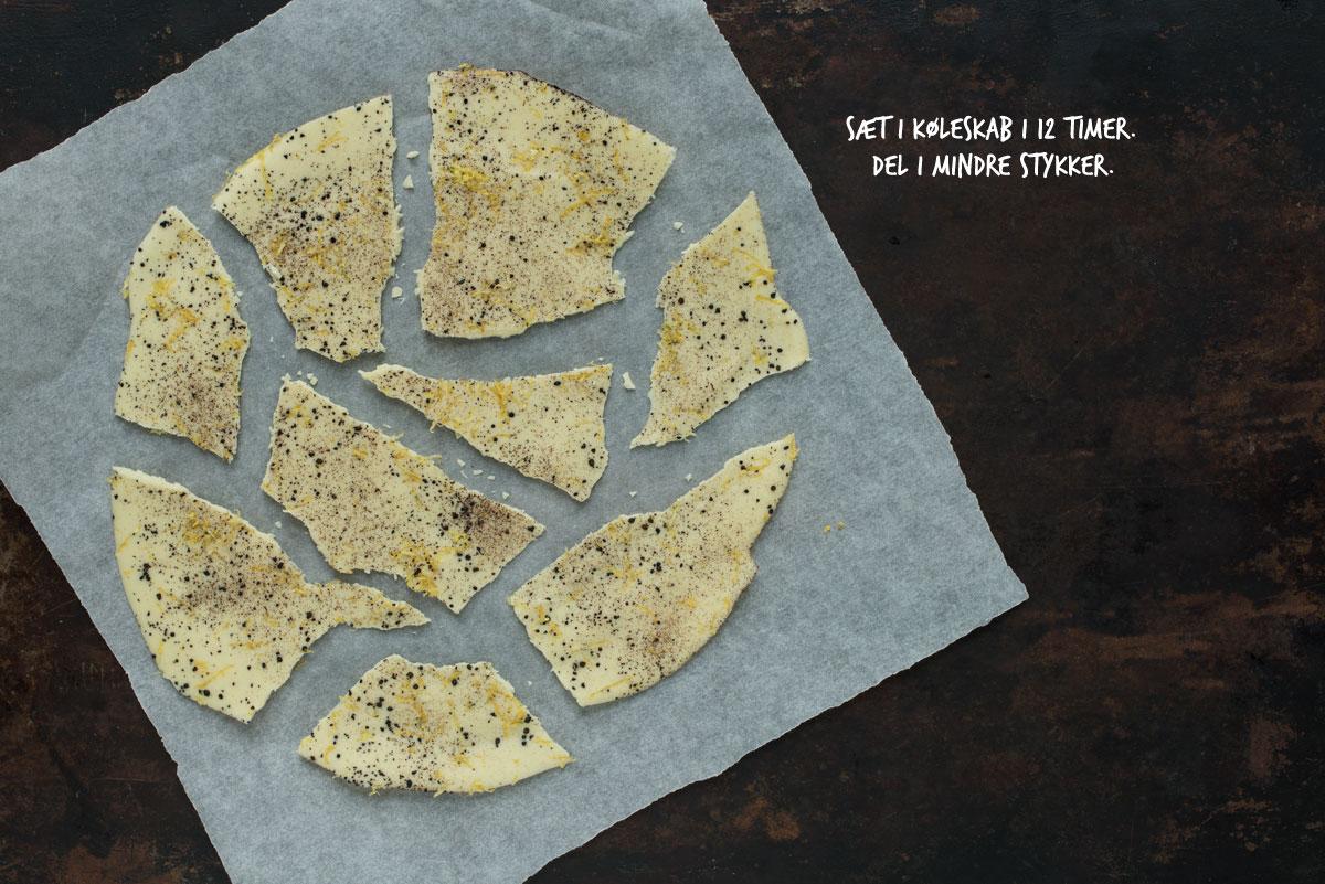 Opskrift: Hvidt chokoladebrud med lakrids og citron | Frk. Kræsen