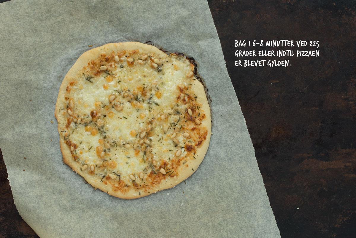 Opskrift: Pizza med tre slags ost | Frk. Kræsen