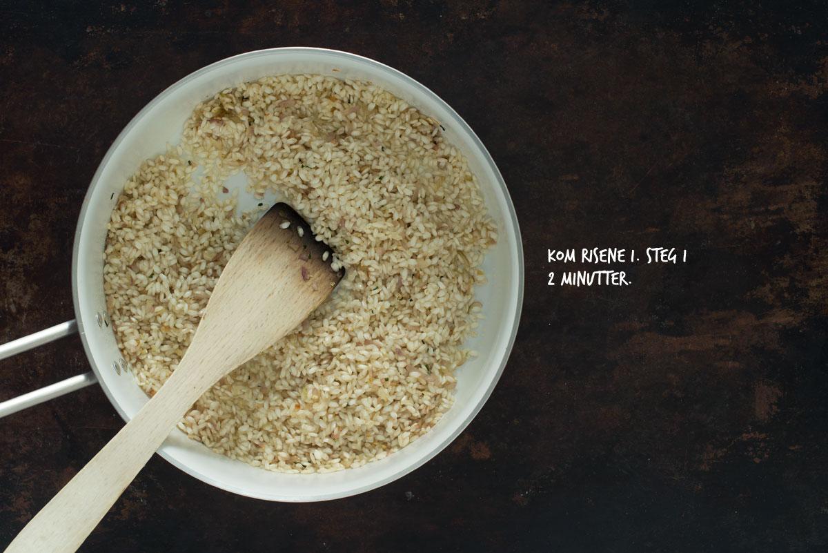 Opskrift: Vegetarisk risotto med rødbede og gedeost | Frk. Kræsen