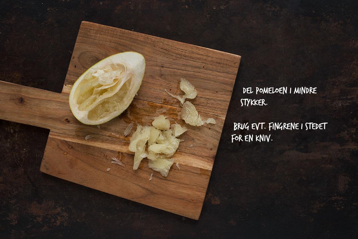 Opskrift: Rødkålsalat med pomelo, grape og appelsin | Frk. Kræsen