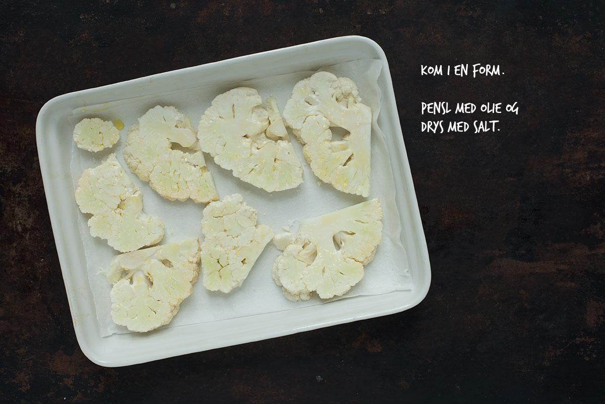 Opskrift: Salat med bagt blomkål, feta og hasselnødder | Frk. Kræsen