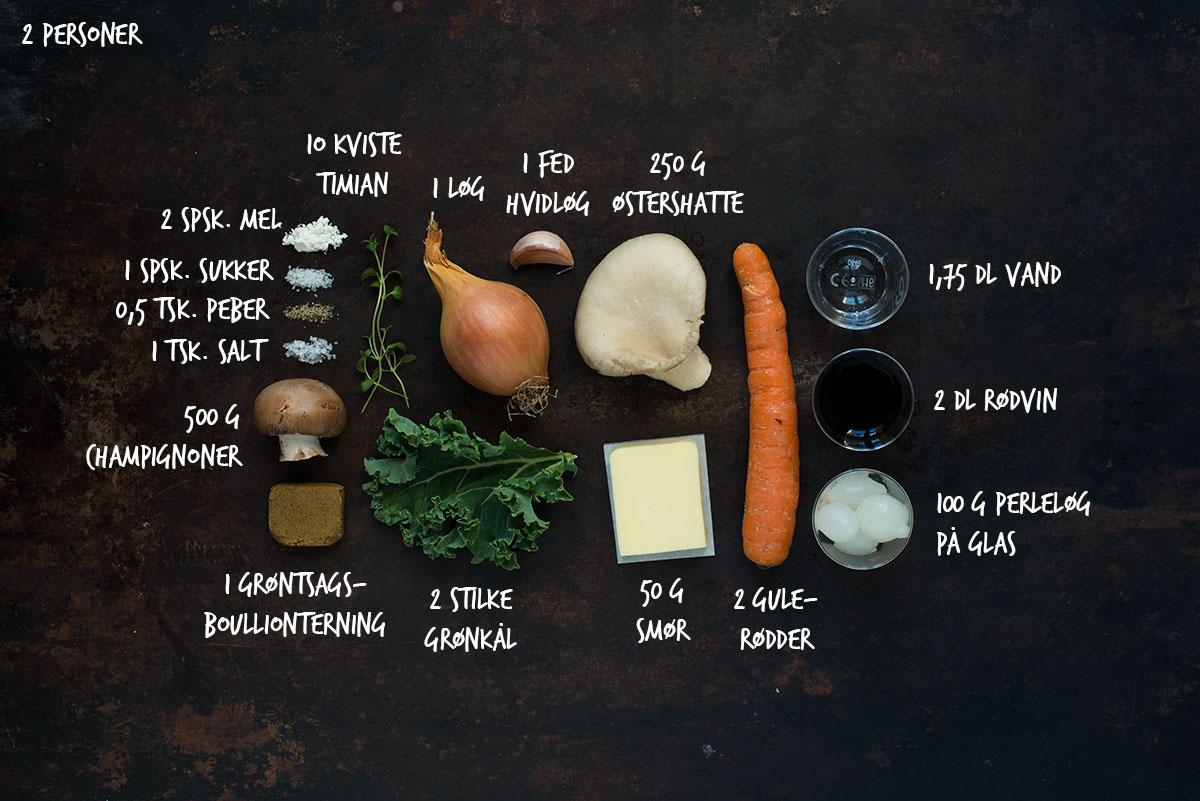 Opskrift: Vegetarisk coq au vin | Frk. Kræsen