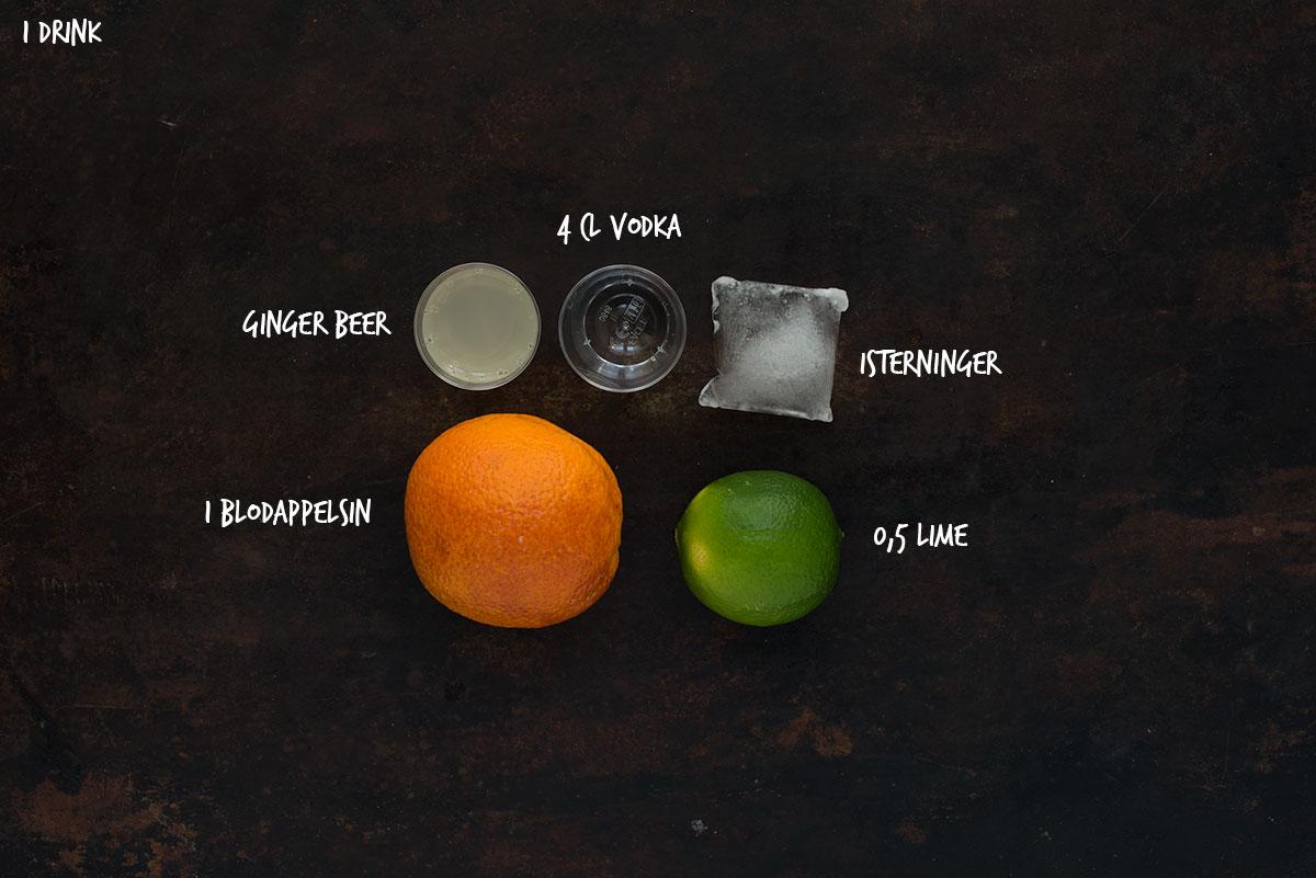 Opskrift: Muscow mule med blodappelsin | Frk. Kræsen