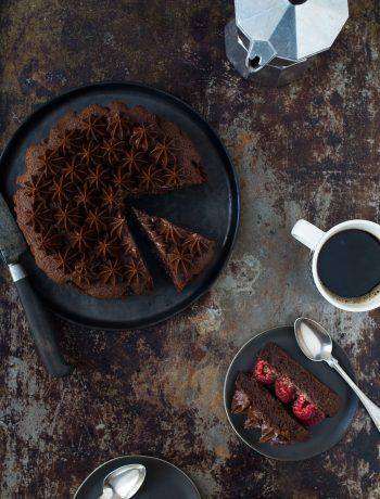 Opskrift: Glutenfri lagkage med chokolade og peanutbutter | Frk. Kræsen