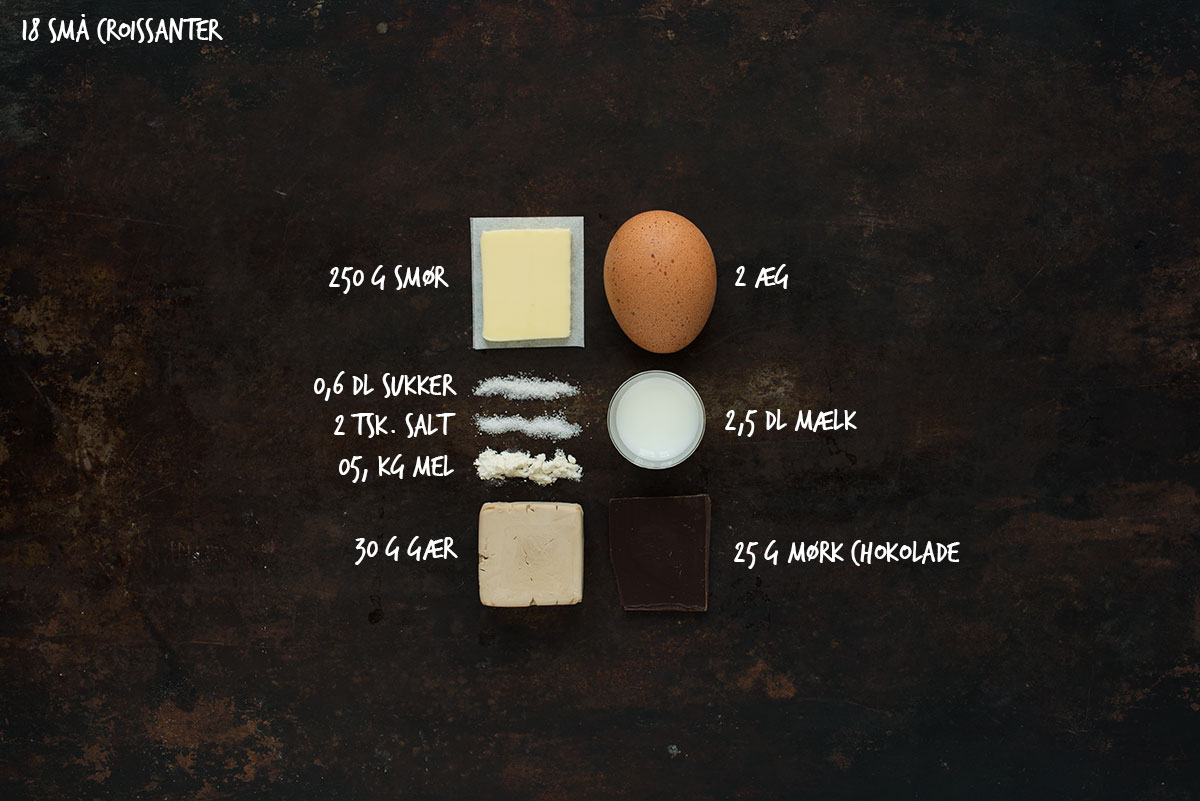 Opskrift: Chokoladecroissanter | Frk. Kræsen