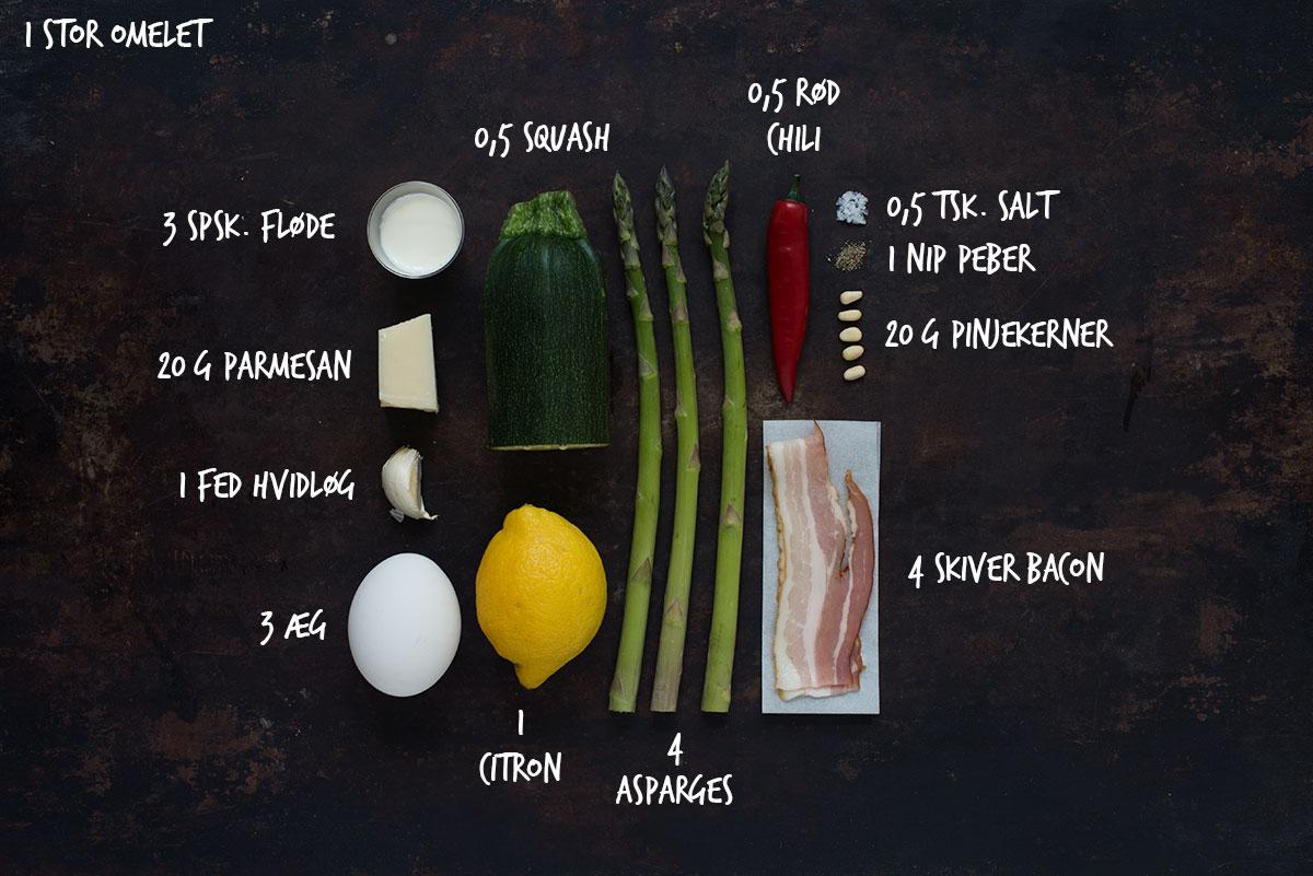 Opskrift: Omelet med squash og asparges | Frk. Kræsen