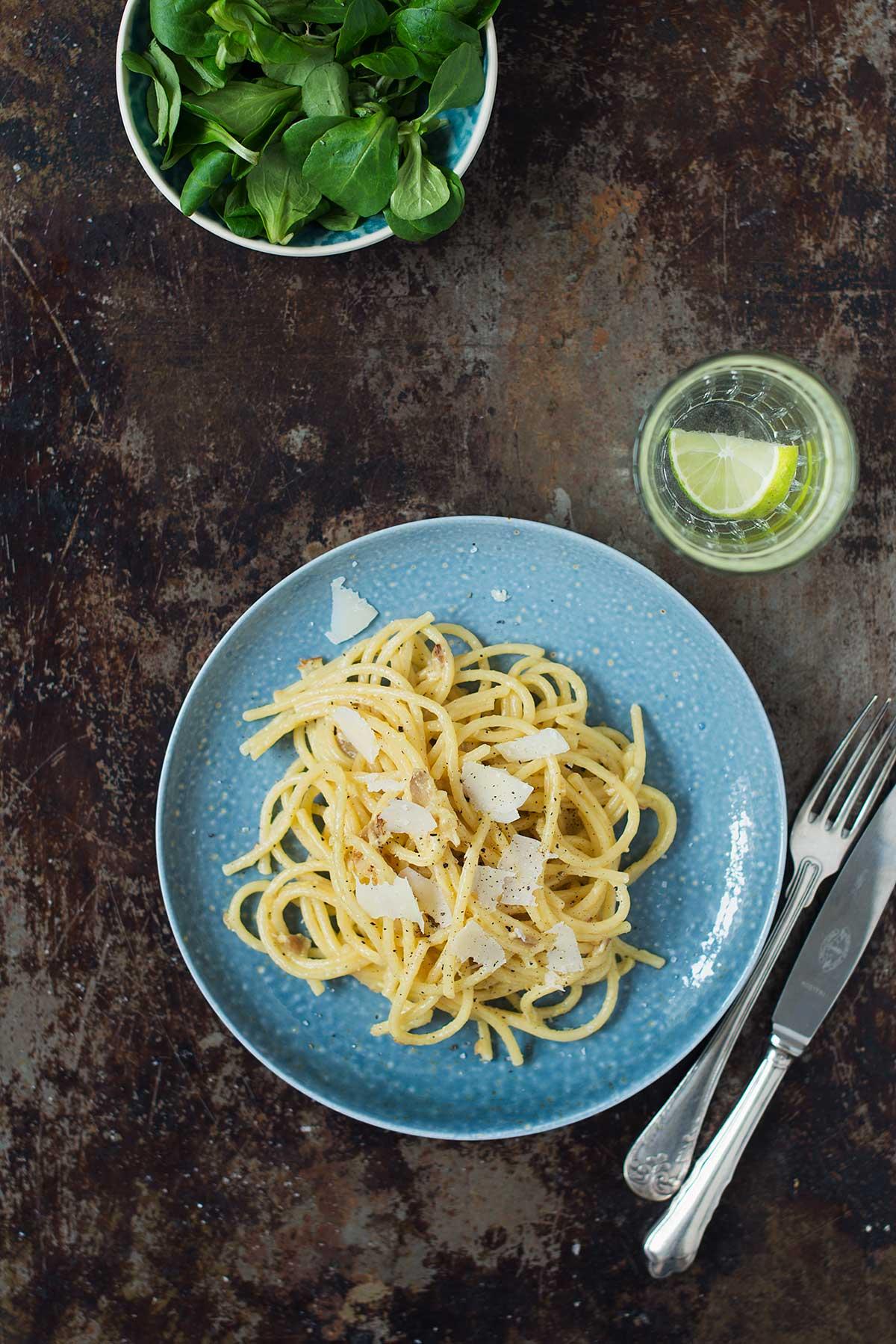 Opskrift: Pasta carbonara | Frk. Kræsen