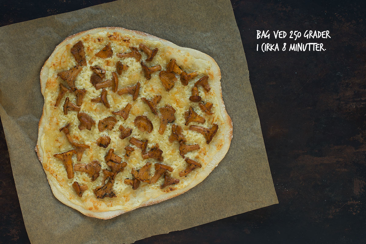 Opskrift: Pizza med kantareller og syltede rødløg | Frk. Kræsen